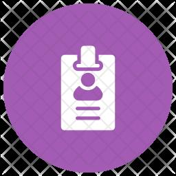 Identification Card Glyph Icon