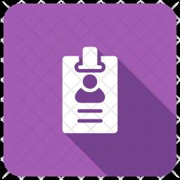 Identification Card Icon
