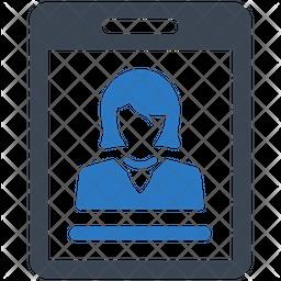 Identity card Flat Icon