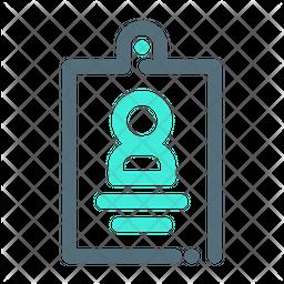 Identity Card Line Icon