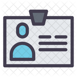 Identity Card Colored Outline Icon