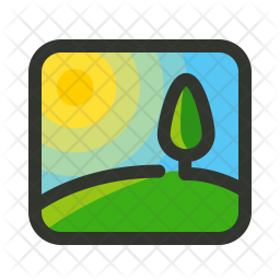 Image Colored Outline Icon