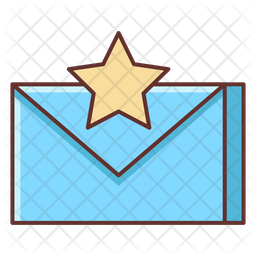 Important Mail Colored Outline Icon