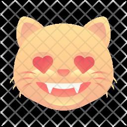 In love cat Emoji Icon