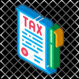 Income Tax Paper And Pen Icon