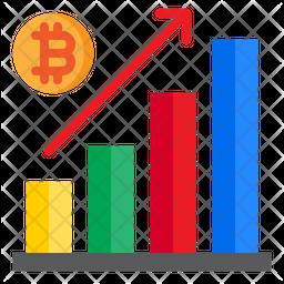 Increase Bitcoin Graph Icon