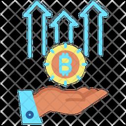 Increase Bitcoin Value Icon