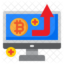 Increase Cryptocurency Icon