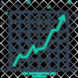 Increasing Stocks Graphic Icon