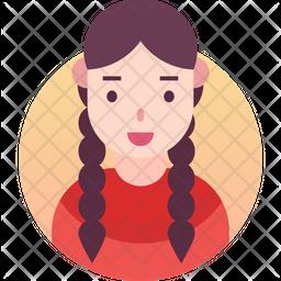 Indain lady Gradient Icon