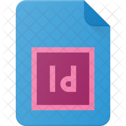 Indd file Flat Icon