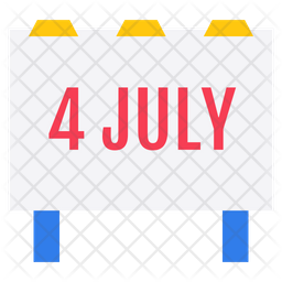 Independence Day Banner Icon