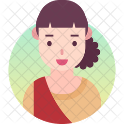 Indian girl Gradient Icon