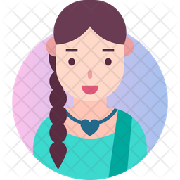 Indian lady Gradient Icon