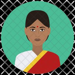 Indian lady Flat Icon