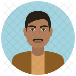 Indian man Flat Icon