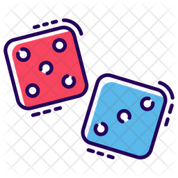 Indoor Dice Game Colored Outline Icon