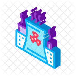 Industrial Pollution Icon