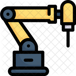 Industrial Robot Drill Icon