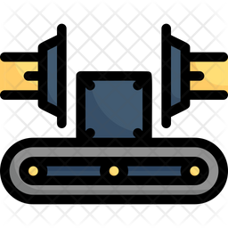 Industrial Robot Side Press Icon