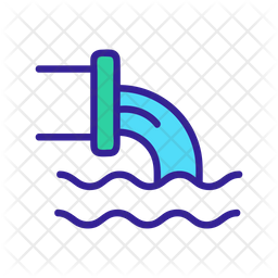 Industry Water Pollution Icon