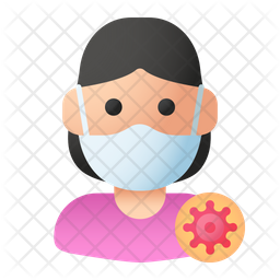 Infected Lady Flat Icon