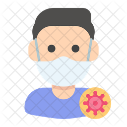 Infected Man Flat Icon