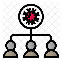 Infected People Colored Outline Icon