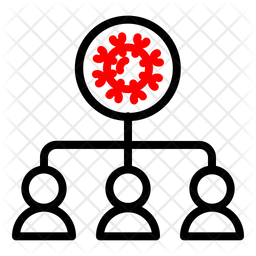 Infected People Line Icon