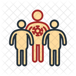 Infected Person Colored Outline Icon