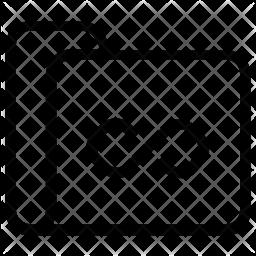 Infinite folder Line Icon