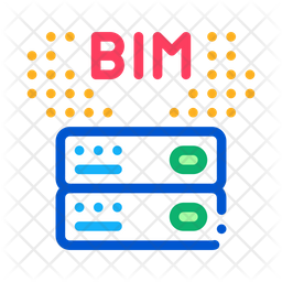 Information Modeling Colored Outline Icon