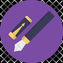 Ink Pen Flat Icon