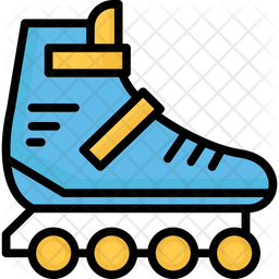Inline Skates Icon Of Colored Outline Style Available In Svg Png Eps Ai Icon Fonts