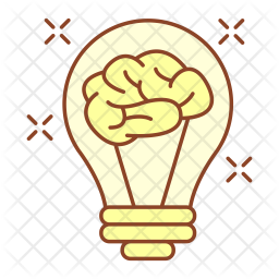 Innovative thinking Colored Outline Icon