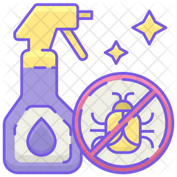 Insect Remover Spray Colored Outline Icon