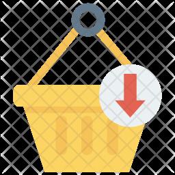 Insert in basket Icon