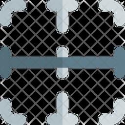 Inside Horizontal Border Icon