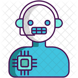 Intelligent Assistant Colored Outline Icon