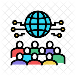 International Business Meetting Colored Outline Icon