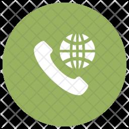 International Call Glyph Icon