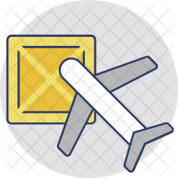 International Freight Colored Outline Icon