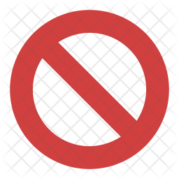 International Prohibition Sign Icon