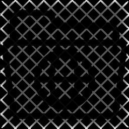 Internet folder Line Icon