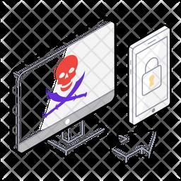 Internet Security Isometric Icon