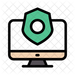 Internet Security Colored Outline Icon