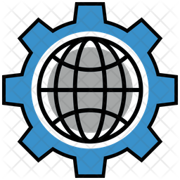 Internet Settings Colored Outline Icon