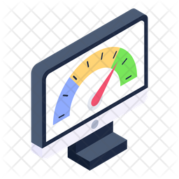 Internet Speed Test Isometric Icon