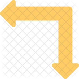 Intersection with Curved Ahead Icon