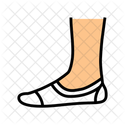 Invisible sock Icon